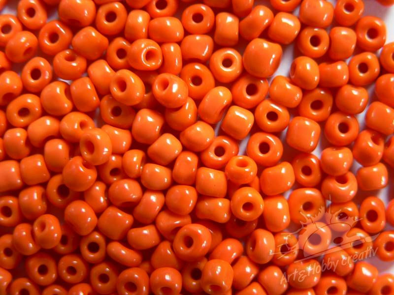 Margele lucios 4mm orange (25gr)