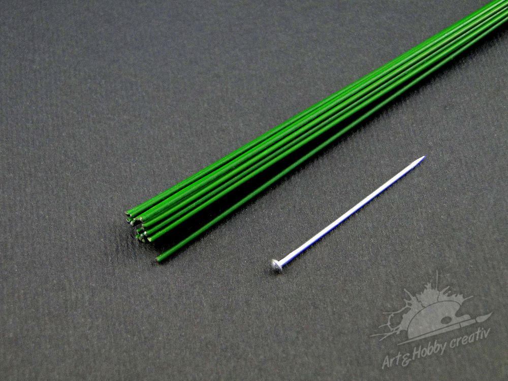 Set sarma verde fire 1mm/40cm/20buc.