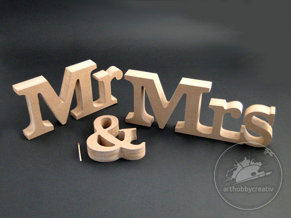 Cuvant Mr & Mrs din MDF
