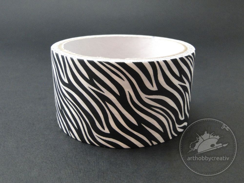 Banda adeziva decor 48mm/5m - zebra