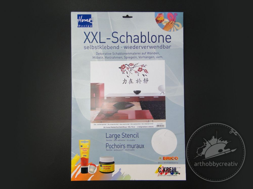 Sablon decor XXL Brico- Caractere chinezesti