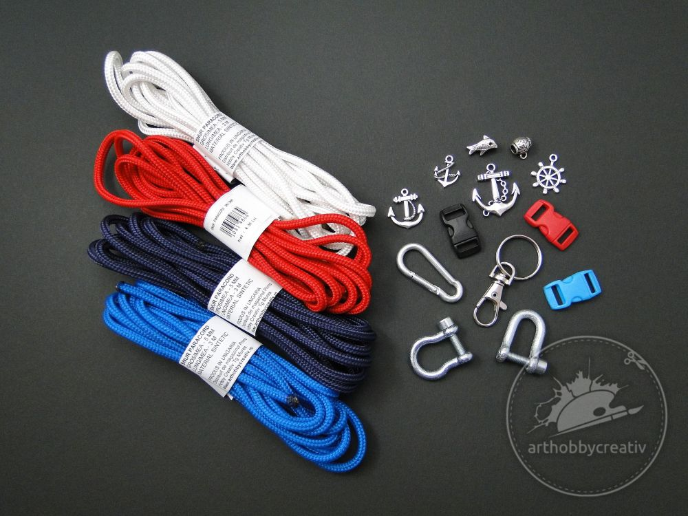 Paracord set nuante - NAVY  mod.3