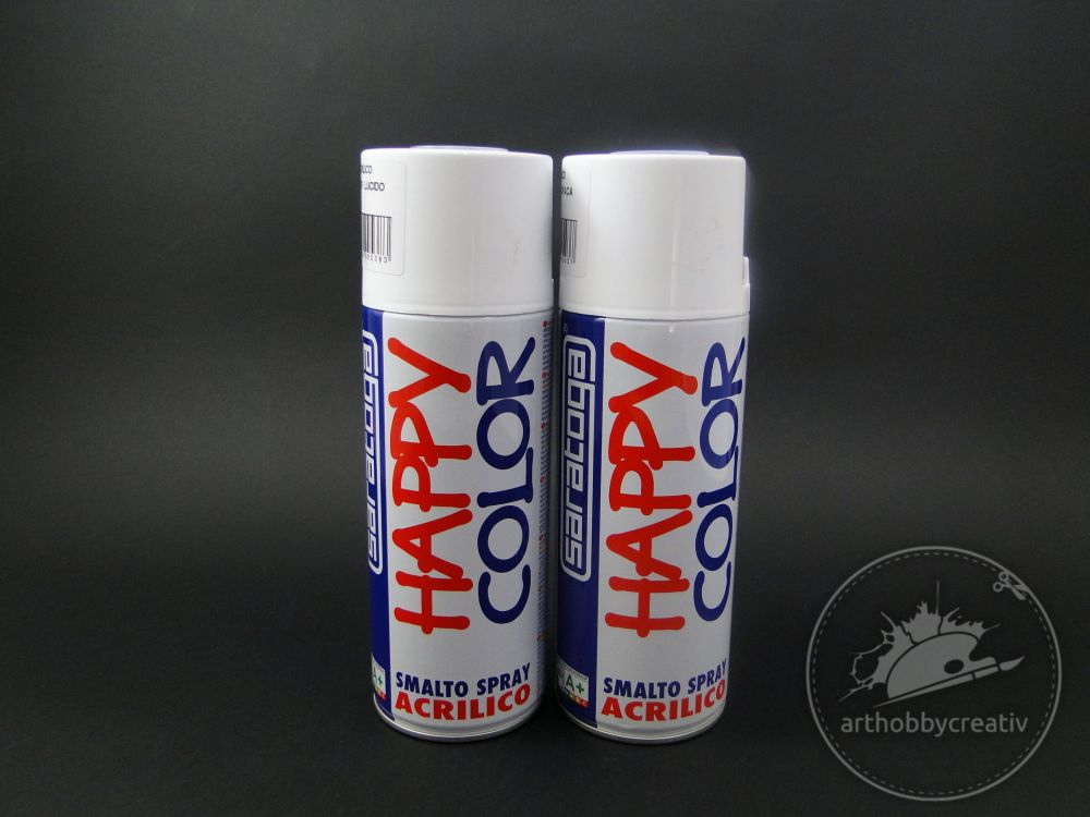 Spray lac transparent lucios/opac Happy Color Acrylic 400ml - Saratoga