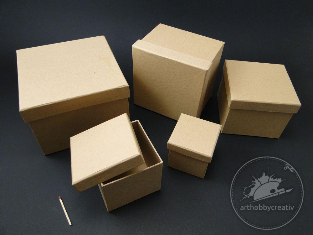 Cutie Carton Forma Patrata Set 5buc Cutii Pentru Cadouri