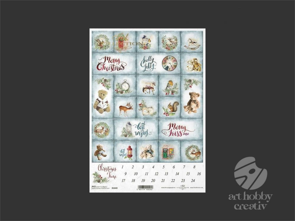 Hartie orez -  Advent calendar A4