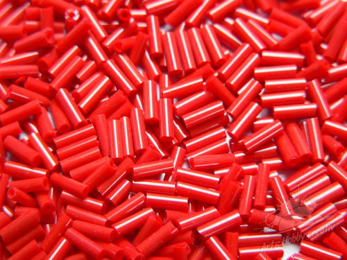Margele tubulare 2mm/6mm rosu (25gr)