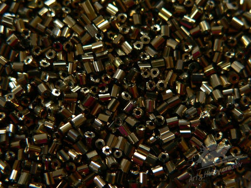 Margele tubulare metalizate 2mm/2mm bronz (25gr)