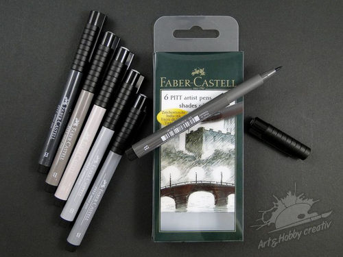 Set carioci shades of grey Faber-Castell