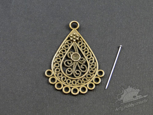 Charm bronz antic 40x30 mm