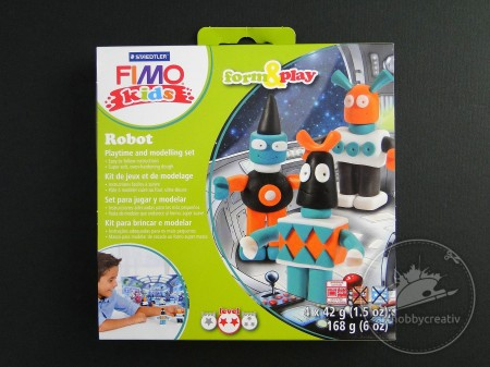 Set modelaj FIMO Kids Form&Play - Roboti