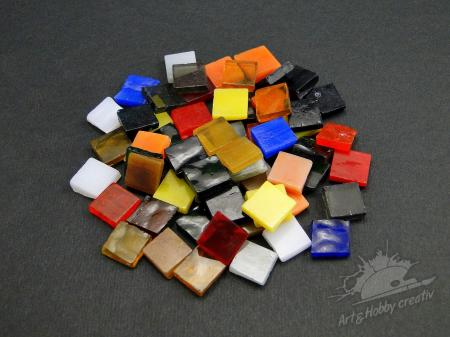 Mozaic sticla mix color 10x10mm/65buc