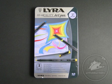 Set carioci Lyra Art pen 10buc