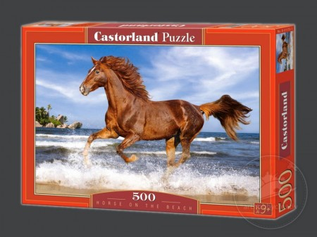 Puzzle Castorland 500 piese - Horse on the beach
