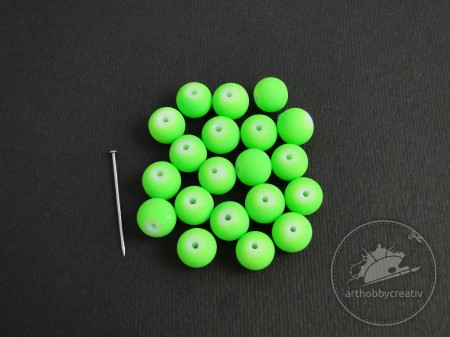 Margele NEON verde 9mm/20buc