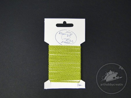 Arthobbycreativ | Snur decor 3m/2mm verde deschis