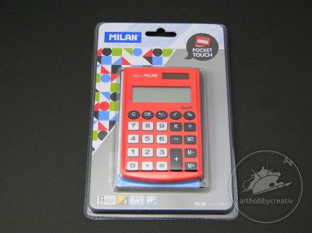 Calculator 8 digits Milan rosu