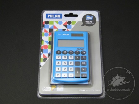 Calculator 8 digits Milan albastru
