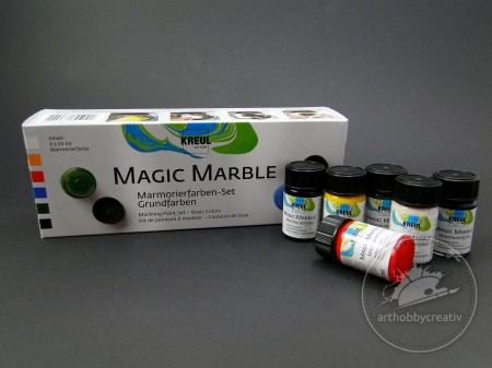 Vopsea efect marmura Magic Marble set/ 6x20 ml
