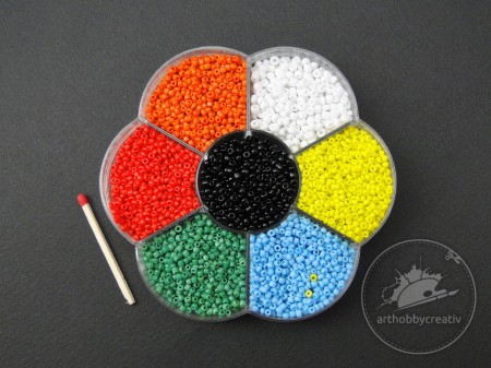 Margele mini multicolor 125gr