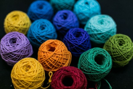 Sfoara bumbac color 2mm/30m/50gr