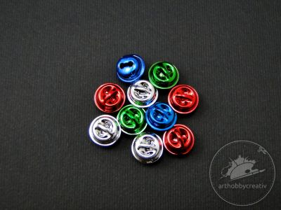Clopotel sferice mini color Φ9mm set/10 buc