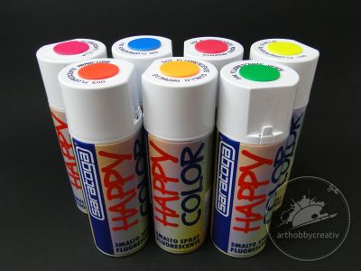 Vopsea spray Happy Color Fluo 400ml - Saratoga