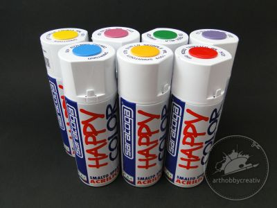 Vopsea lucioasa spray Happy Color Acrylic 400ml - Saratoga