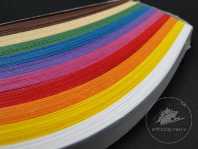 Hartie quilling- multicolor 200/ 10mm