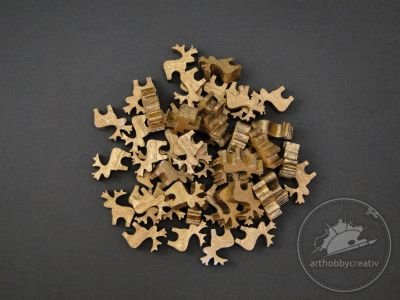 Figurine mini reni- auriu set/48buc