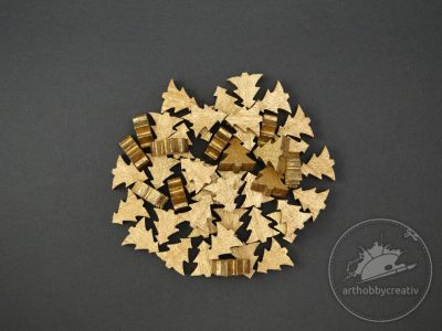Figurine mini braduti- auriu set/48buc