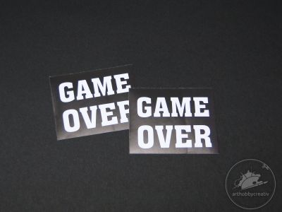 Stickere de pantofi- Game Over 4,5x3,6 cm set/2buc