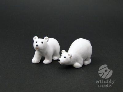 Figurina mini - urs polar set/2buc