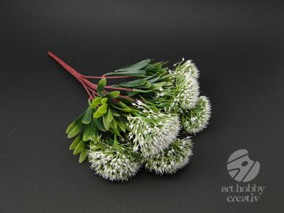 Buchet artificial floare Allium - alb 35cm