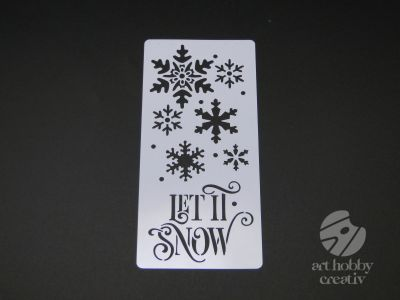 Sablon - Let it snow 25x12cm