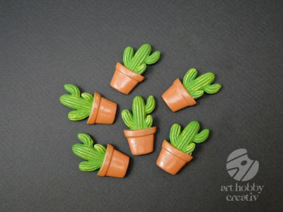 Figurine mini cactusi in ghiveci set/6buc