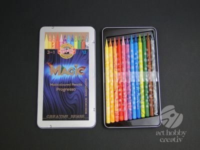 Creioane colorate fara lemn - Magic set/12buc