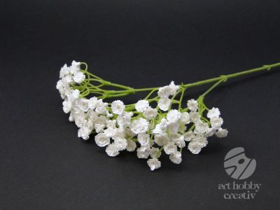 Floare artificiala alba gypsophillia 48cm