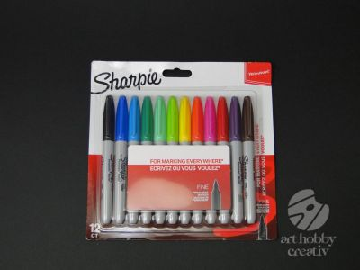 Marker permanent - Sharpie set/12buc