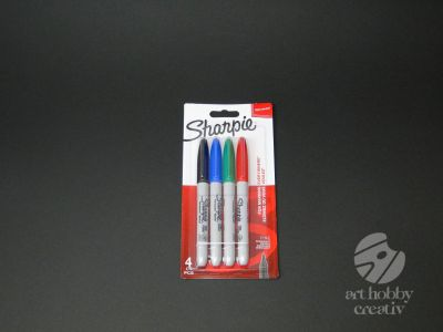 Marker permanent - Sharpie set/4buc