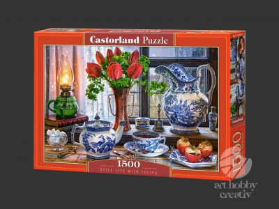 Puzzle Castorland 1500 piese - Still life with tulips