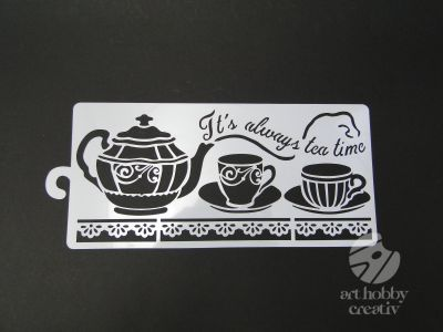 Sablon flexibil - Tea time 12x25cm