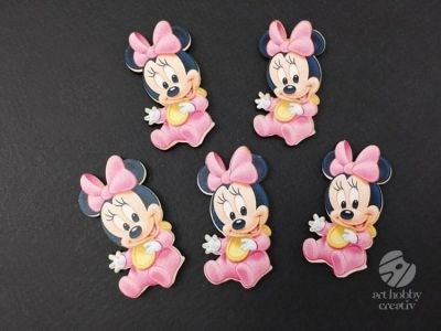 Figurine Minnie roz - set/5 buc
