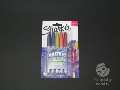 Marker permanent - Sharpie Cosmic set/5buc