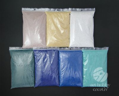 Nisip decor color 1kg/nuante - set 6+1 nuante - Beach