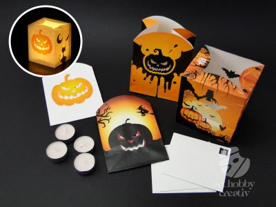 Lampion decorativ Light Bag - Halloween set/4buc
