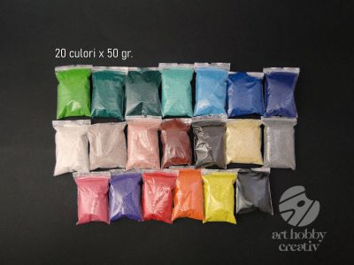Nisip decor color set/20 culori x 50gr