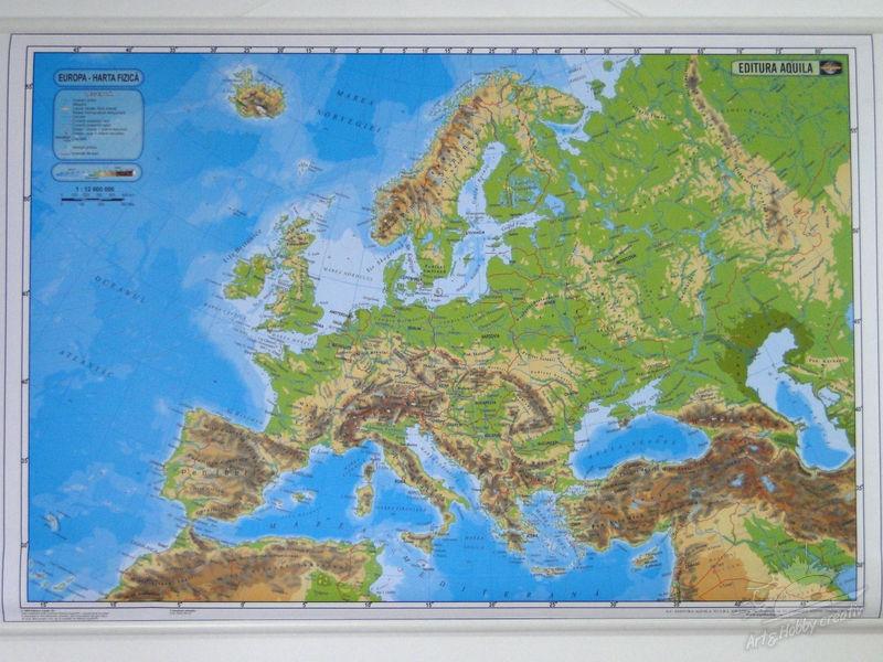 Harta Politica Harta Fizica A Europei Hărţi Globuri Pămantesti