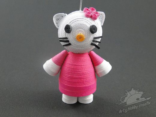 Figurine din Quilling - Hello Kitty