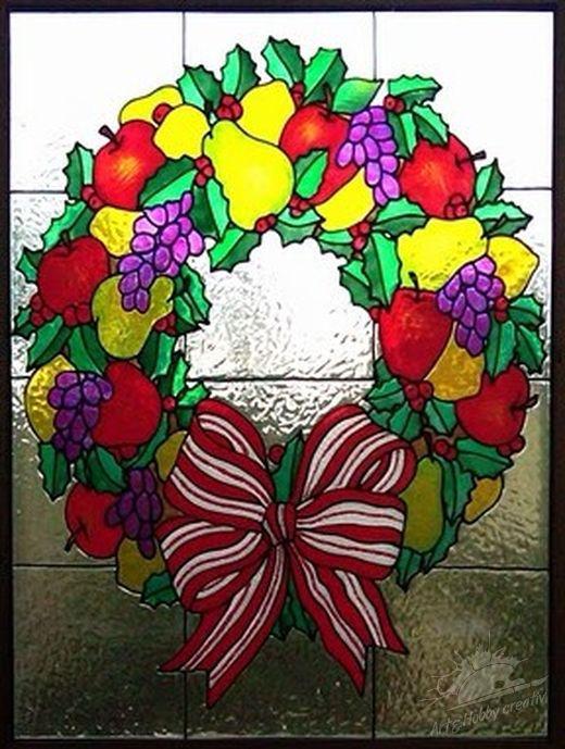 Motive de Crăciun - Coroniță cu fructe